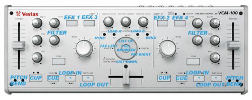 DJ TechTools - Vestax VCM-100 EFX MIDI MAP