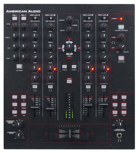 American-audio-14mxr-3000-sys-4-channel-midilog-mixer-with-built-in-dsp-d-core-sound-card-detailed-image-1